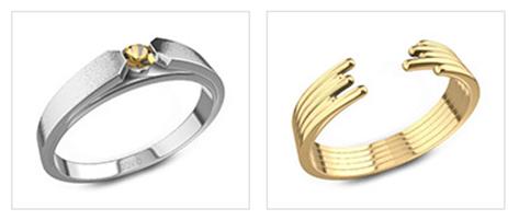 金戒指的不同种类-宝珑网