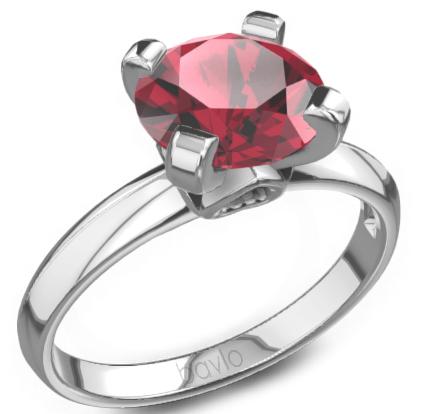 宝珑珠宝定制戒指——红宝石戒指