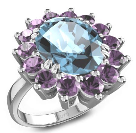 寶瓏珠寶彩色寶石戒指——王妃戒