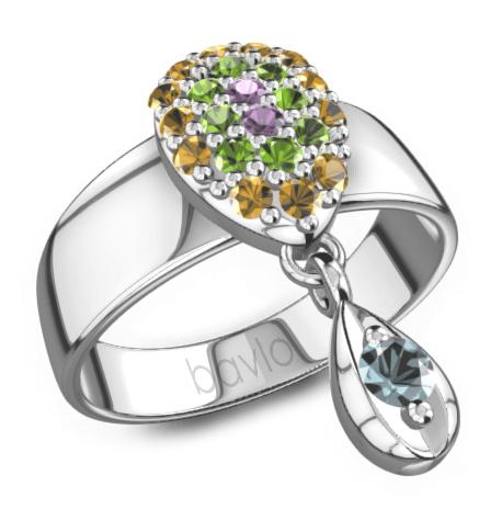 宝珑珠宝彩色宝石戒指
