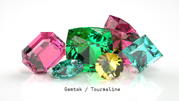 Gemtak 彩色宝石 钻石 碧玺