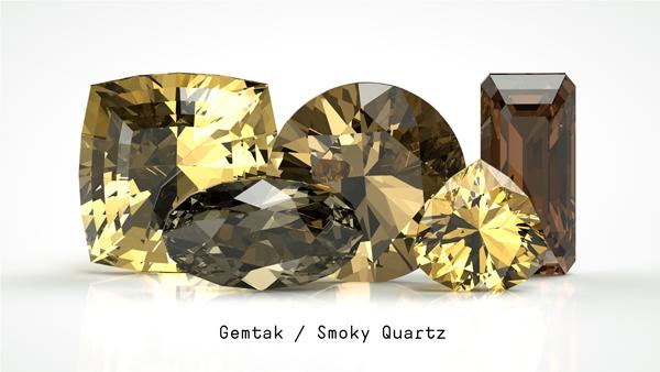 Gemtak 彩色宝石 钻石 茶晶
