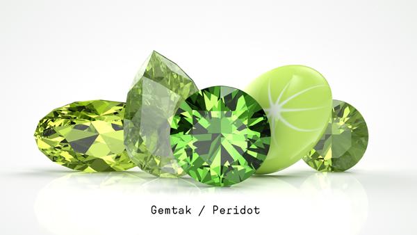 橄欖石 Gemtak 彩色寶石 鉆石