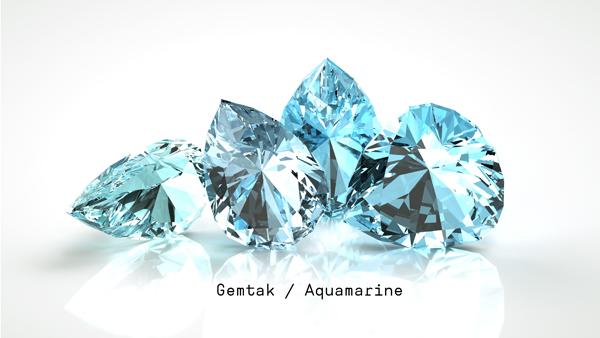 Gemtak 彩色宝石 钻石 海蓝宝