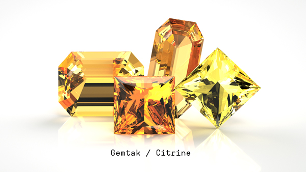 Gemtak 彩色宝石 钻石 黄水晶