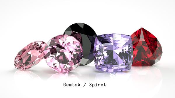 Gemtak 彩色寶石 鉆石 尖晶石