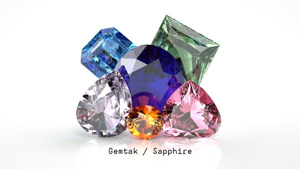 Gemtak 彩色寶石 鉆石 藍寶石