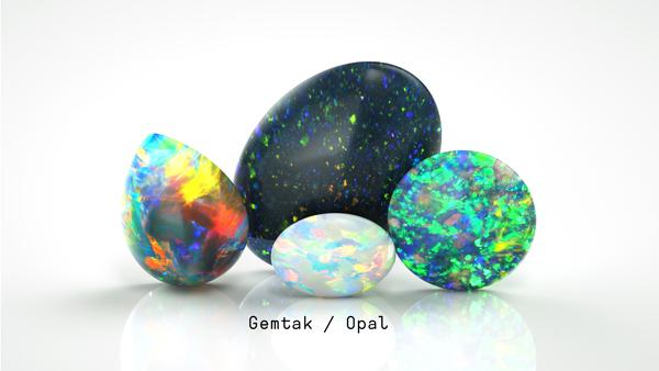 歐泊 Gemtak 彩色寶石 鉆石