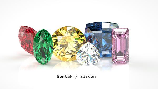 鋯石 Gemtak 彩色寶石 鉆石