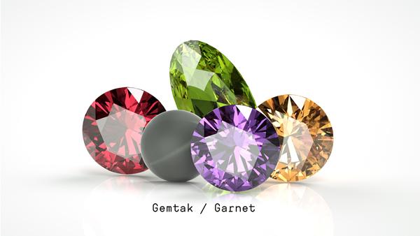 Gemtak 彩色宝石 钻石 石榴石