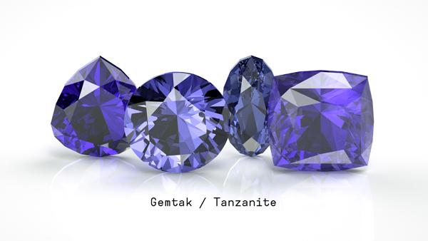 Gemtak 彩色宝石 钻石 坦桑石