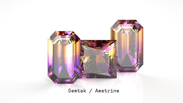 Gemtak 彩色宝石 钻石 紫黄晶