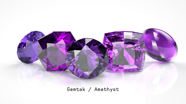 Gemtak 彩色寶石 鉆石 紫晶